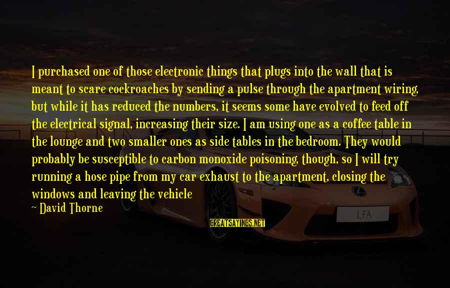 Car Gas Sayings By David Thorne: I purchased one of those electronic things that plugs into the wall that is meant