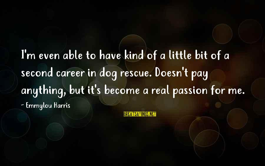 Career Passion Sayings By Emmylou Harris: I'm even able to have kind of a little bit of a second career in