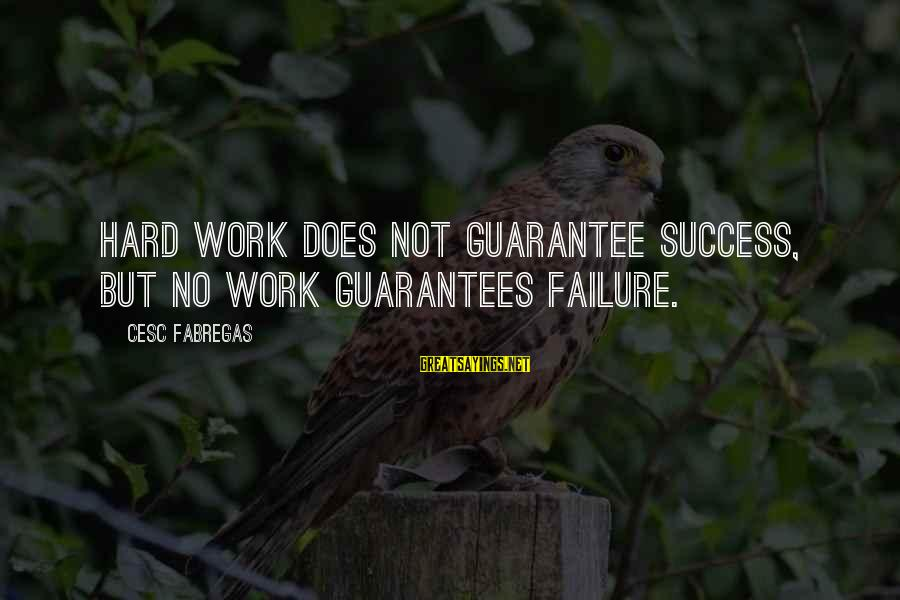 Cesc Fabregas Sayings By Cesc Fabregas: Hard work does not guarantee success, but no work guarantees failure.