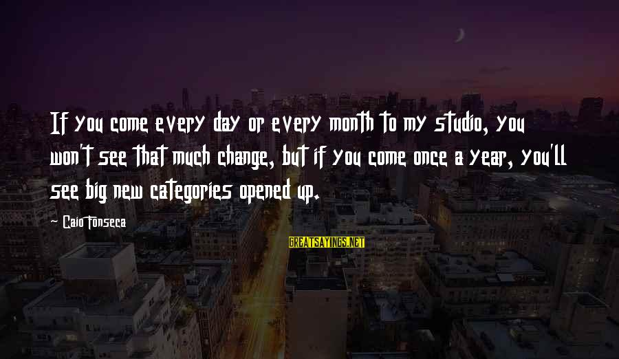 Change In The New Year Sayings By Caio Fonseca: If you come every day or every month to my studio, you won't see that
