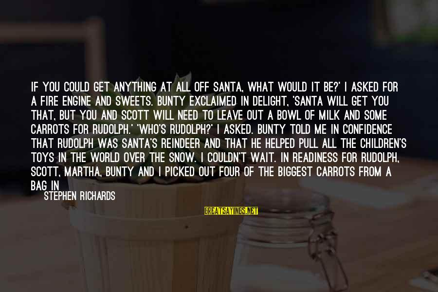 Christmas At Home Sayings By Stephen Richards: If you could get anything at all off Santa, what would it be?' I asked
