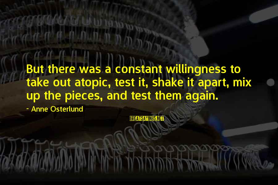 Christmas Pencil Sayings By Anne Osterlund: But there was a constant willingness to take out atopic, test it, shake it apart,