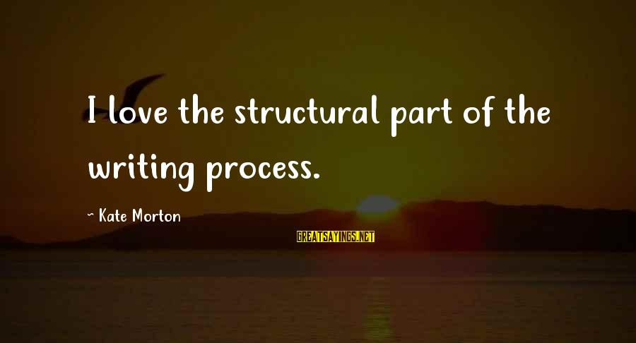Chronic Illness Motivational Sayings By Kate Morton: I love the structural part of the writing process.
