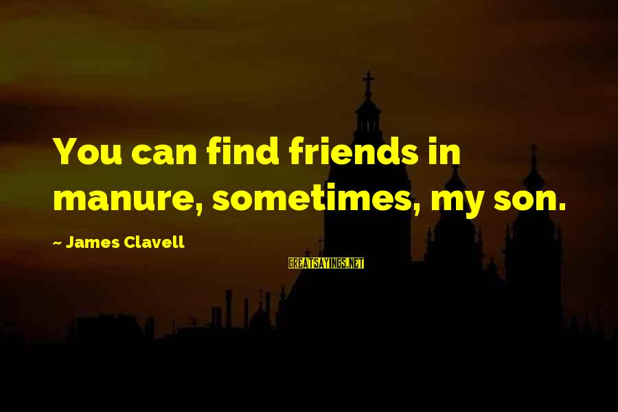 Clavell Sayings By James Clavell: You can find friends in manure, sometimes, my son.