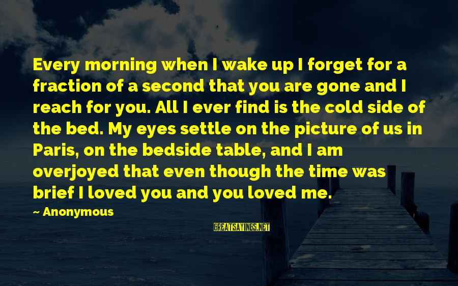 Cold Morning Love Sayings By Anonymous: Every morning when I wake up I forget for a fraction of a second that