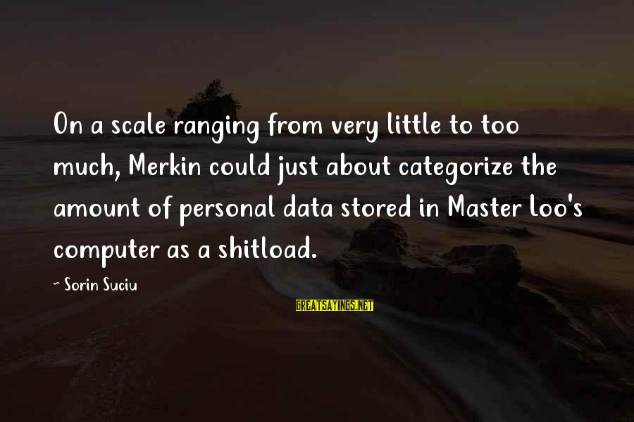 Computer Geek Sayings By Sorin Suciu: On a scale ranging from very little to too much, Merkin could just about categorize