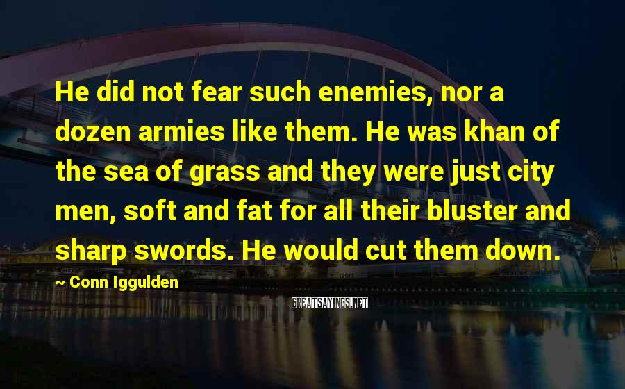 Conn Iggulden Sayings: He did not fear such enemies, nor a dozen armies like them. He was khan