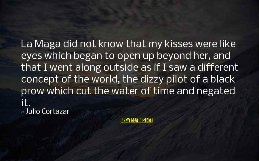 Cortazar Love Sayings By Julio Cortazar: La Maga did not know that my kisses were like eyes which began to open