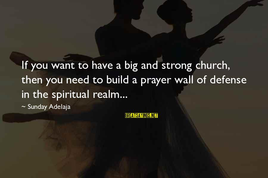 Cranky Husband Sayings By Sunday Adelaja: If you want to have a big and strong church, then you need to build