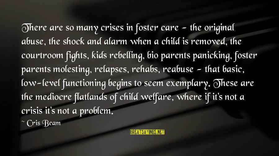 Cris Sayings By Cris Beam: There are so many crises in foster care - the original abuse, the shock and