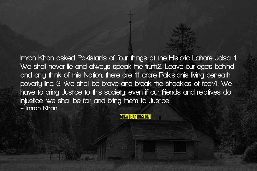 Crore Sayings By Imran Khan: Imran Khan asked Pakistanis of four things at the Historic Lahore Jalsa. 1. We shall