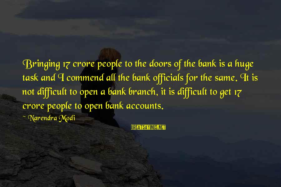 Crore Sayings By Narendra Modi: Bringing 17 crore people to the doors of the bank is a huge task and