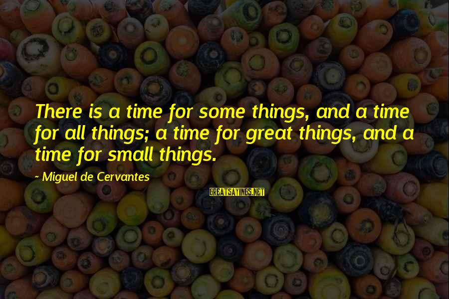 Cute Leprechaun Sayings By Miguel De Cervantes: There is a time for some things, and a time for all things; a time