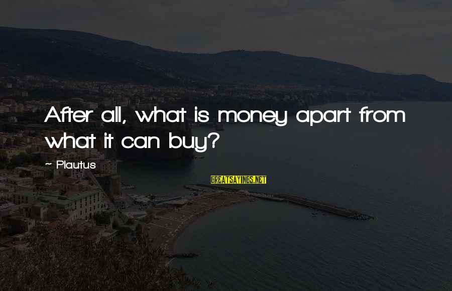 Daisuke Niwa Sayings By Plautus: After all, what is money apart from what it can buy?