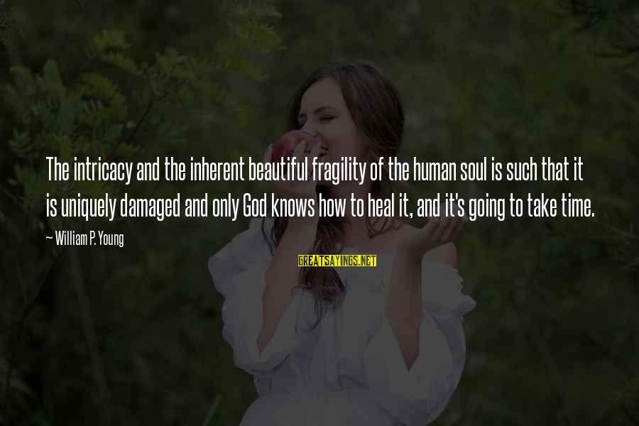 Damaged Soul Sayings By William P. Young: The intricacy and the inherent beautiful fragility of the human soul is such that it