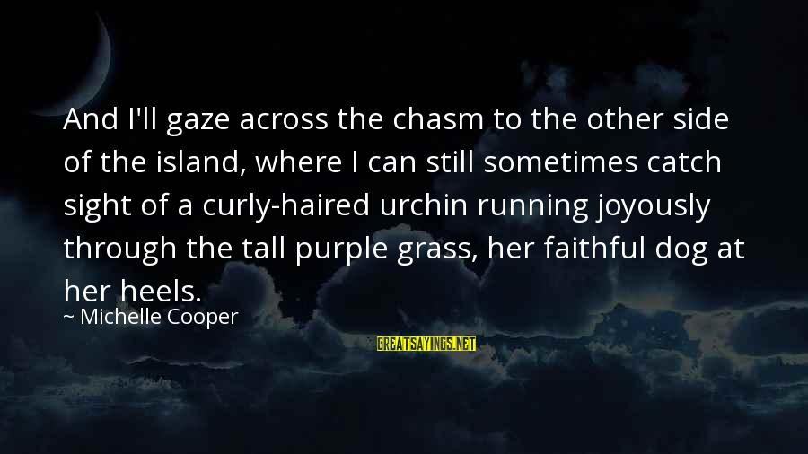 Dante De Monarchia Sayings By Michelle Cooper: And I'll gaze across the chasm to the other side of the island, where I