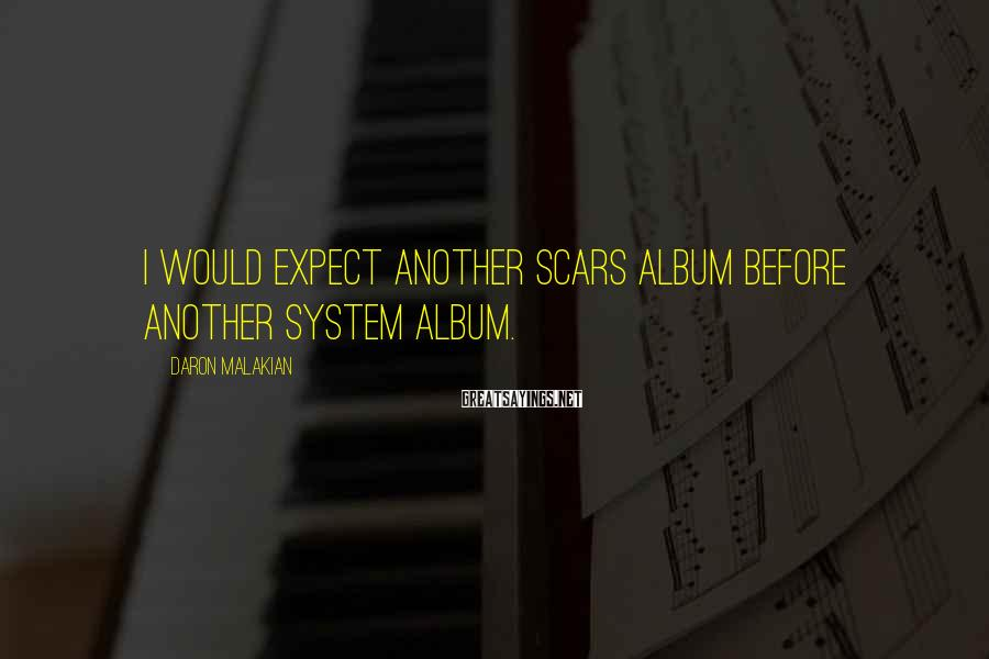 Daron Malakian Sayings: I would expect another Scars album before another System album.
