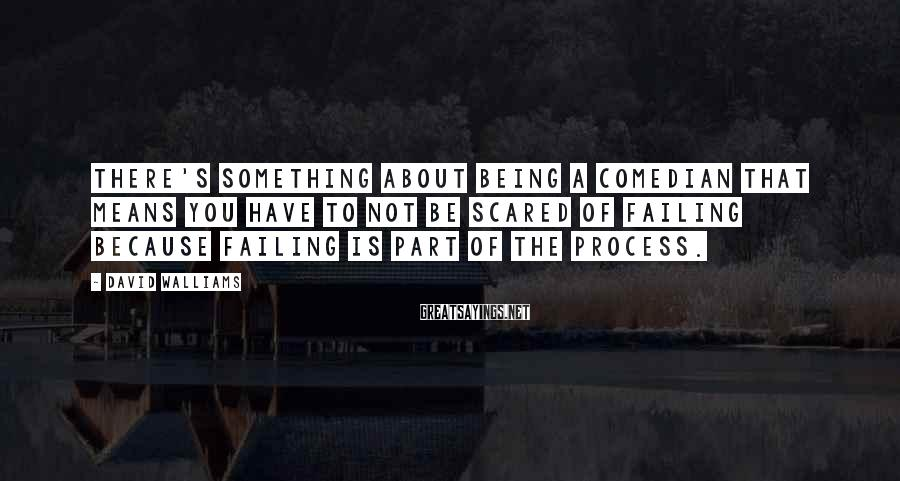 David Walliams Sayings: There's something about being a comedian that means you have to not be scared of
