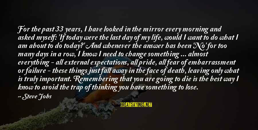 Death Row Last Sayings By Steve Jobs: For the past 33 years, I have looked in the mirror every morning and asked