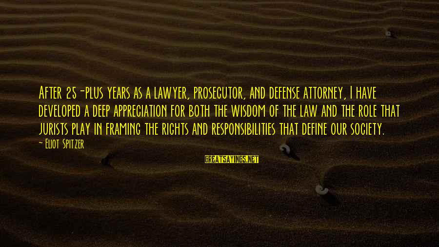 Define Law Sayings By Eliot Spitzer: After 25-plus years as a lawyer, prosecutor, and defense attorney, I have developed a deep