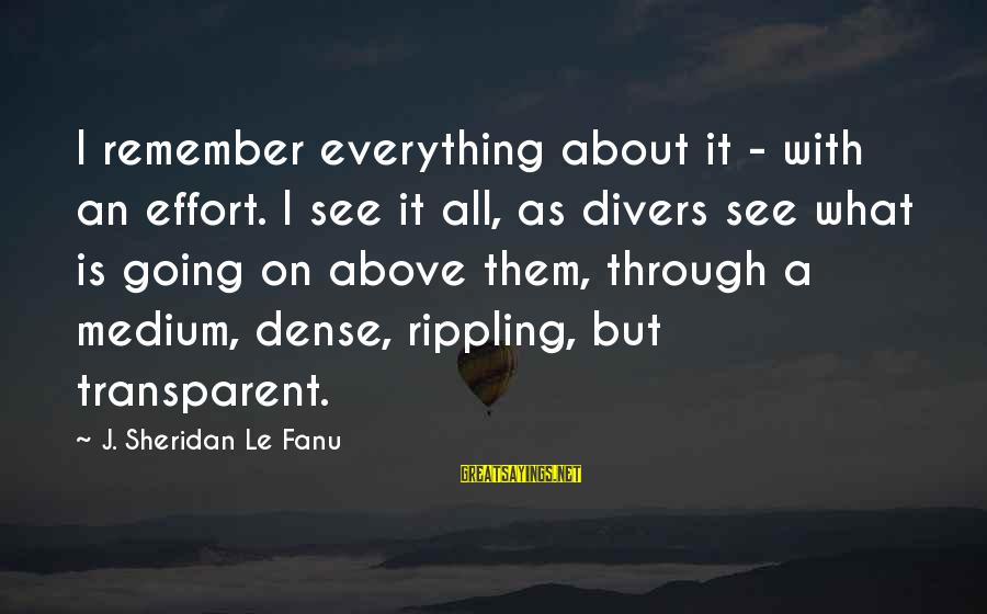Di Na Kita Maintindihan Sayings By J. Sheridan Le Fanu: I remember everything about it - with an effort. I see it all, as divers