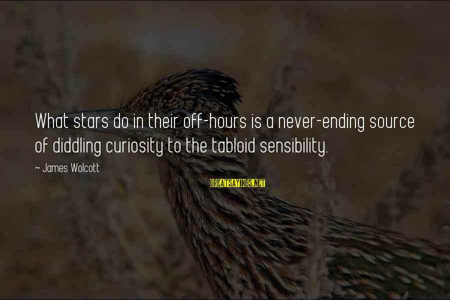 Diddling Sayings By James Wolcott: What stars do in their off-hours is a never-ending source of diddling curiosity to the
