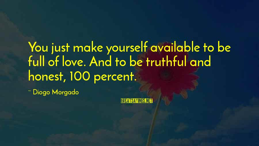Diogo Morgado Sayings By Diogo Morgado: You just make yourself available to be full of love. And to be truthful and