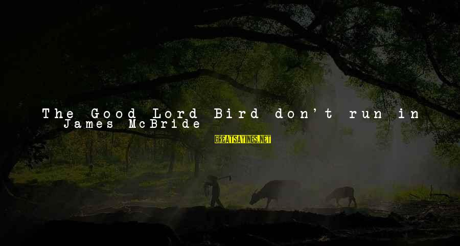 Dirt's Sayings By James McBride: The Good Lord Bird don't run in a flock. He Flies alone. You know why?