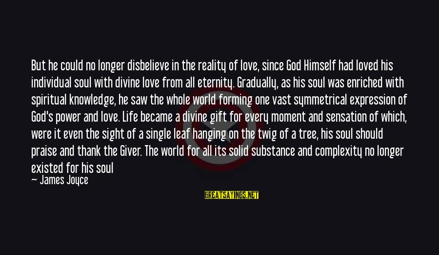 Disbelieve In Love Sayings By James Joyce: But he could no longer disbelieve in the reality of love, since God Himself had