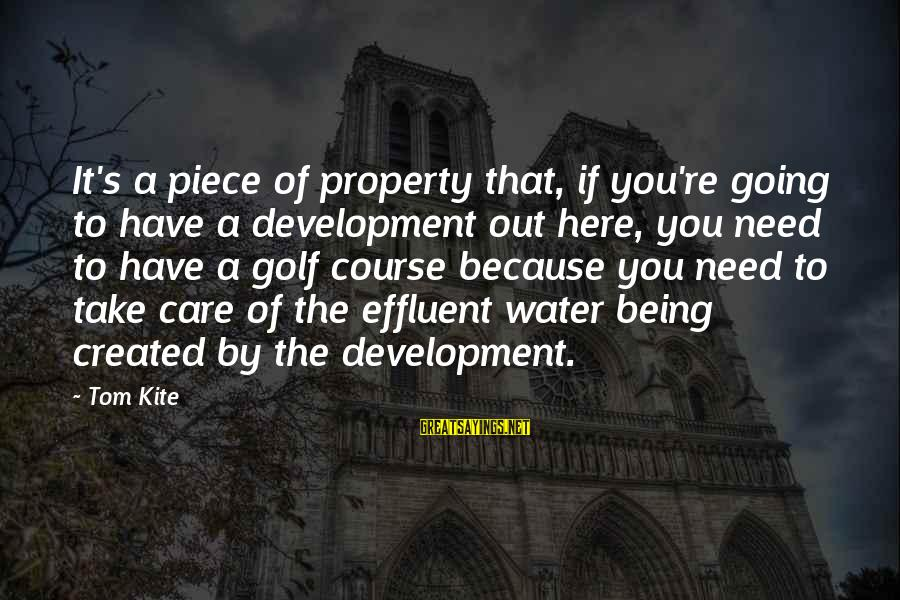 Divergent Movie Sayings By Tom Kite: It's a piece of property that, if you're going to have a development out here,