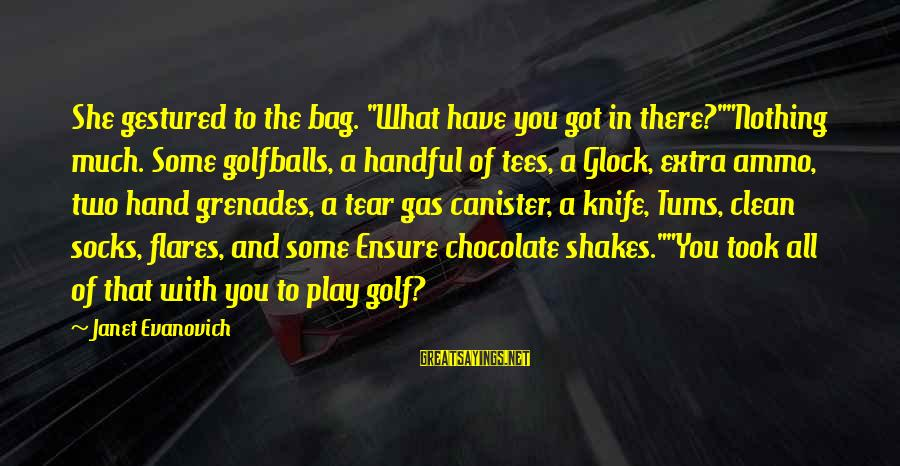 """Divine Mercy Diary Inspirational Sayings By Janet Evanovich: She gestured to the bag. """"What have you got in there?""""""""Nothing much. Some golfballs, a"""