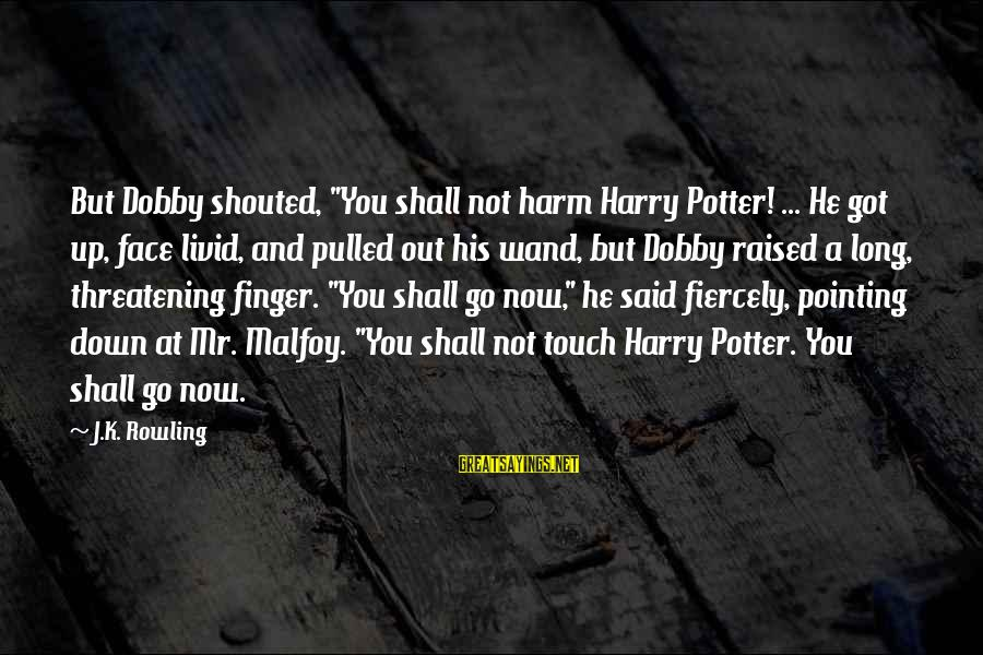 """Dobby Sayings By J.K. Rowling: But Dobby shouted, """"You shall not harm Harry Potter! ... He got up, face livid,"""