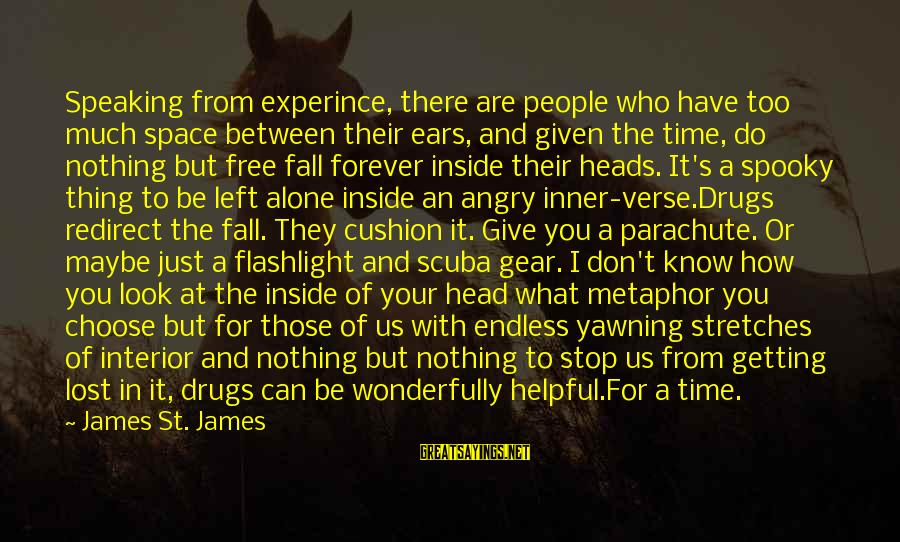 Don't Know What You Lost Sayings By James St. James: Speaking from experince, there are people who have too much space between their ears, and