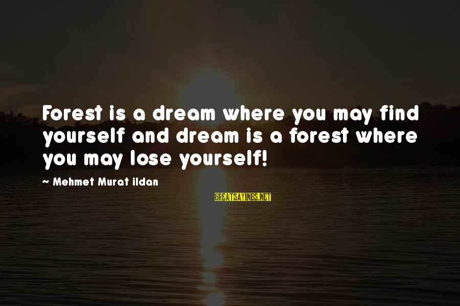 Dream Quotes And Sayings By Mehmet Murat Ildan: Forest is a dream where you may find yourself and dream is a forest where