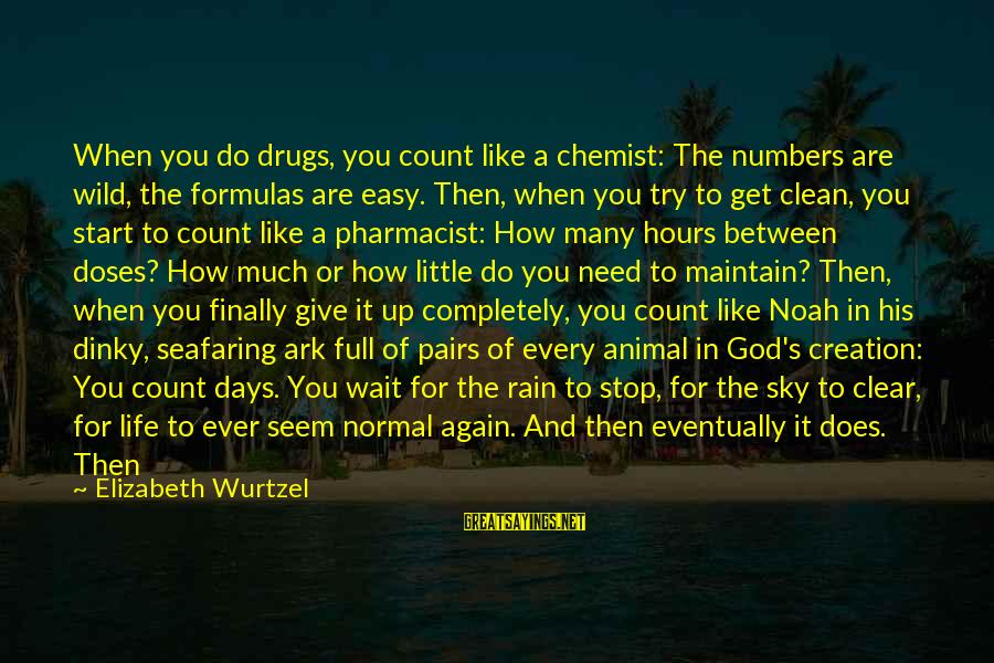 Drugs And God Sayings By Elizabeth Wurtzel: When you do drugs, you count like a chemist: The numbers are wild, the formulas