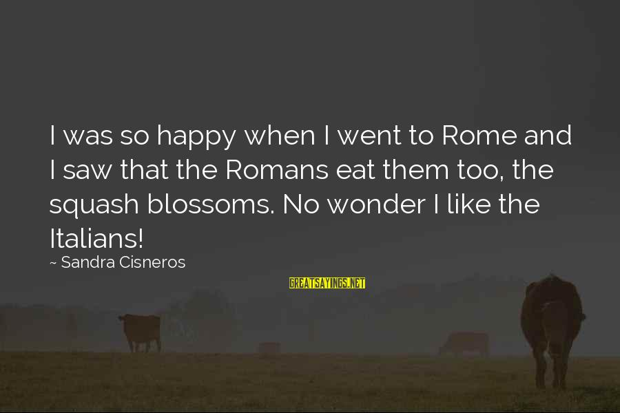 Dual Military Relationship Sayings By Sandra Cisneros: I was so happy when I went to Rome and I saw that the Romans