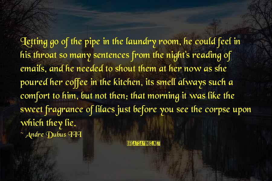 Dubus Sayings By Andre Dubus III: Letting go of the pipe in the laundry room, he could feel in his throat