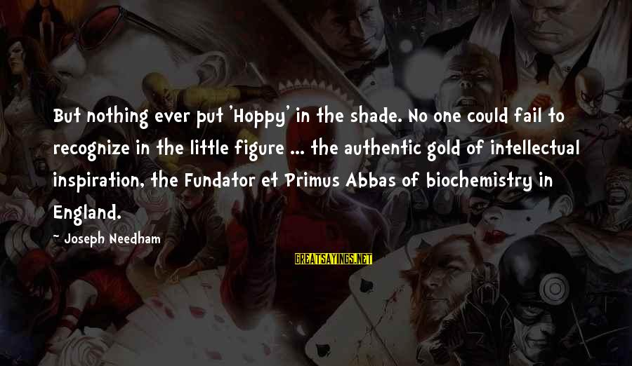 Eamonn Walker Sayings By Joseph Needham: But nothing ever put 'Hoppy' in the shade. No one could fail to recognize in