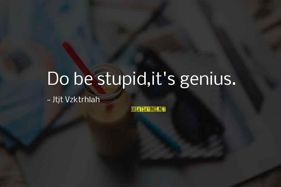 Eastern Bluebird Sayings By Jtjt Vzktrhlah: Do be stupid,it's genius.