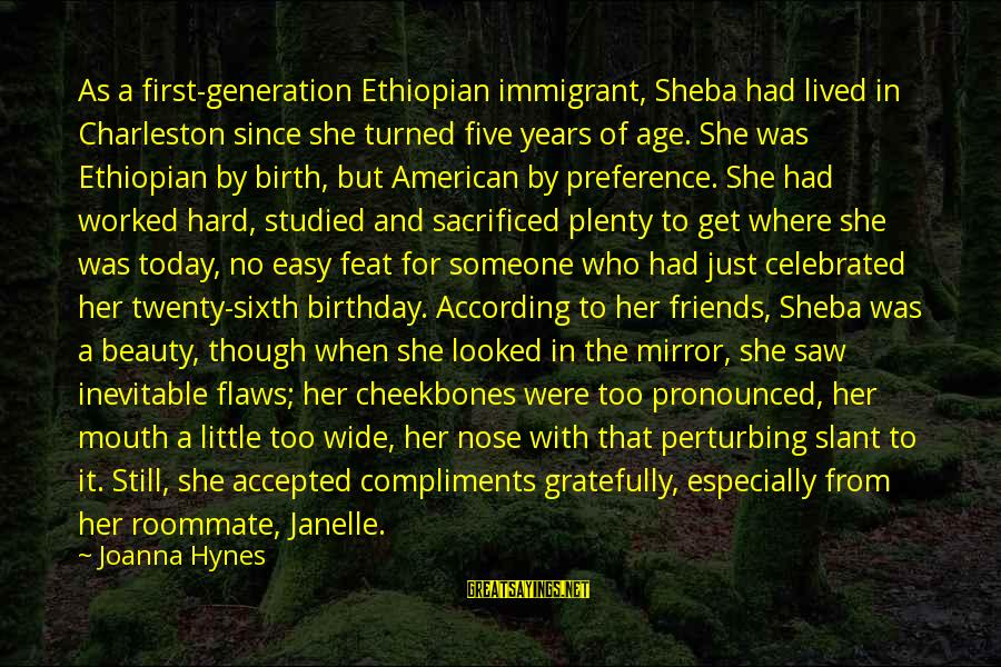 Ebony Sayings By Joanna Hynes: As a first-generation Ethiopian immigrant, Sheba had lived in Charleston since she turned five years