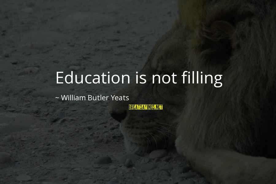 Education Yeats Sayings By William Butler Yeats: Education is not filling