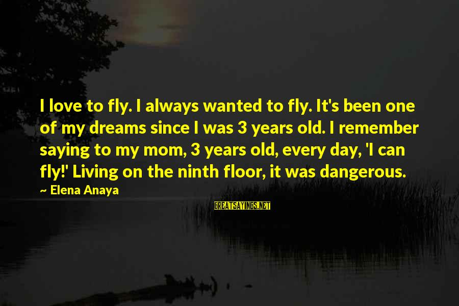 Elena Love Sayings By Elena Anaya: I love to fly. I always wanted to fly. It's been one of my dreams
