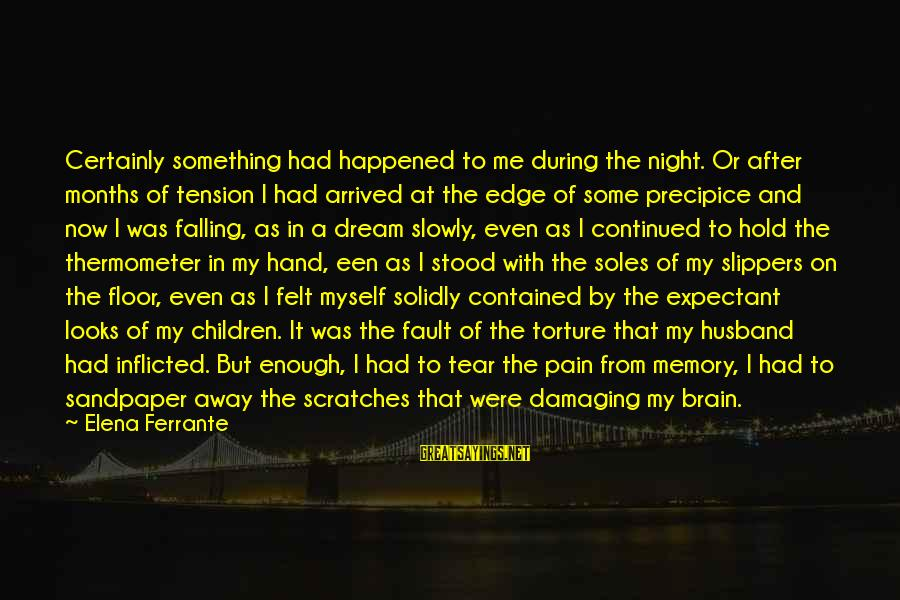 Elena Love Sayings By Elena Ferrante: Certainly something had happened to me during the night. Or after months of tension I