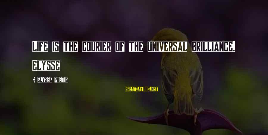 Elysse Sayings By Elysse Poetis: Life is the courier of the universal brilliance. Elysse