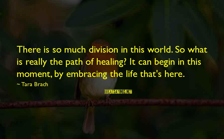 Embracing The World Sayings By Tara Brach: There is so much division in this world. So what is really the path of