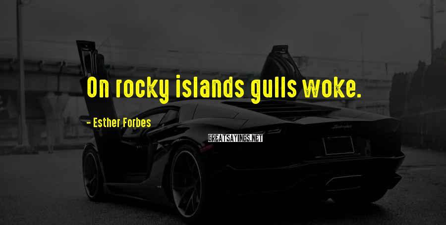 Esther Forbes Sayings: On rocky islands gulls woke.