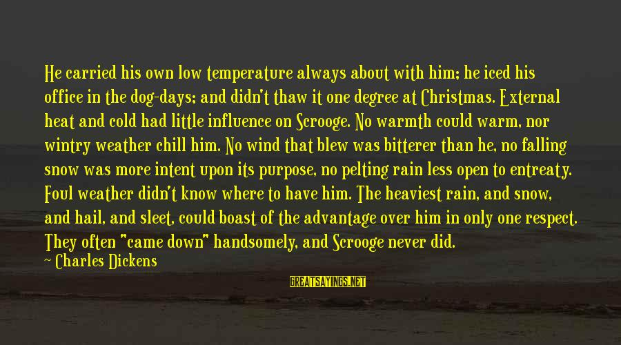 External Influence Sayings By Charles Dickens: He carried his own low temperature always about with him; he iced his office in