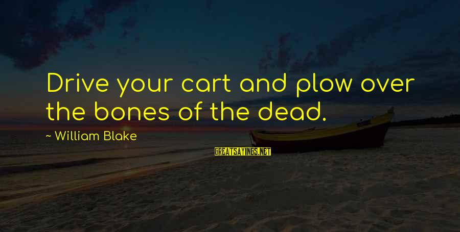 Falling In Love With Someone Eyes Sayings By William Blake: Drive your cart and plow over the bones of the dead.