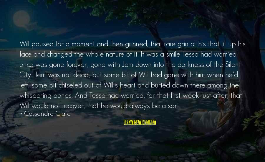 Famous Diversity Sayings By Cassandra Clare: Will paused for a moment and then grinned, that rare grin of his that lit
