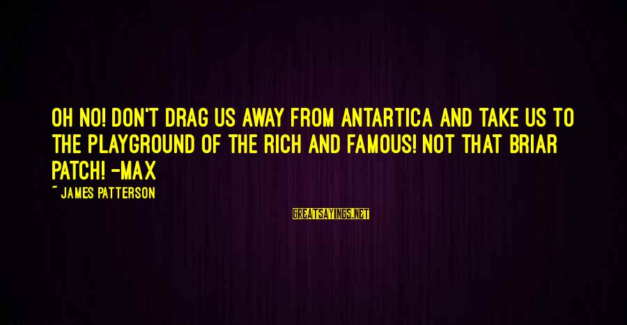 Famous Us Sayings By James Patterson: Oh no! Don't drag us away from Antartica and take us to the playground of